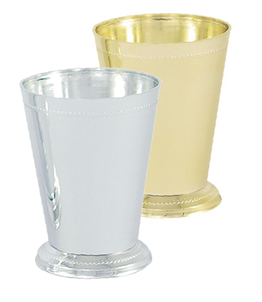 Vo 921 2 Small Plastic Mint Julep Cup Gold Or Silver