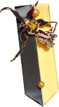 Black and Gold Style Boutonniere Wearable Floral Design - Scroll Down to