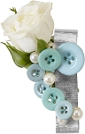 Aqua Man Boutonniere Wearable Floral Design - Scroll Down to