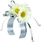 Fresh Silver Daisy Corsage Wearable Floral Design - Scroll Down to