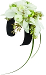 Black and White Glamour Corsage Wearable Floral Design - Scroll Down to