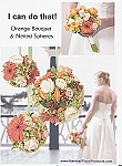 Orange Bouquet - Scroll down for PDF Guide
