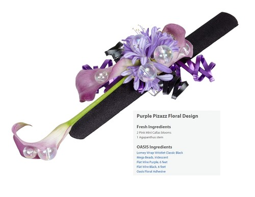 "Purple Pizazz Corsage Wearable Floral Design - Scroll Down to ""Click Here"" for link to Recipe Card"