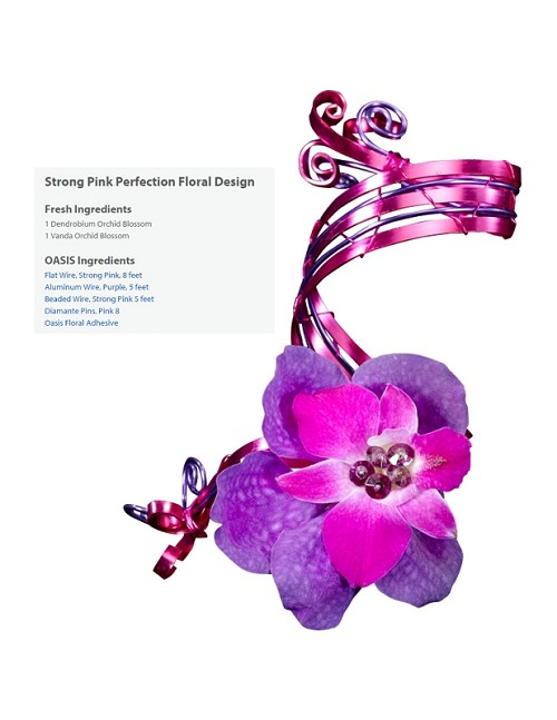 "Strong Pink Perfection Wearable Floral Design - Scroll Down to ""Click Here"" for link to Recipe Card (COPY)"