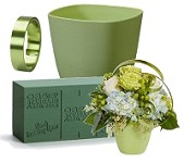 Fresh Green Floral Design Kit - Just Add Water and Your Flowers - Scroll down to