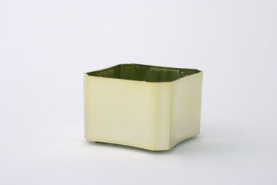 "VO-61-2 - 3 1/2"" Plastic Box Planter (Gold or Silver) - carton of 24"