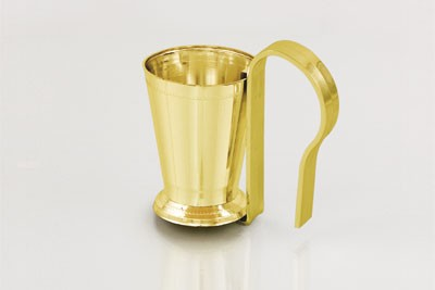 VO-1001-2 - Small Plastic Mint Julep Cup w/ Pew Clip (Gold or Silver) - carton of 24