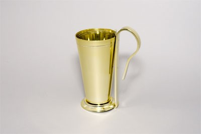 VO-1021-2 - Large Plastic Mint Julep Cup w/ Pew Clip (Gold or Silver) - carton of 12