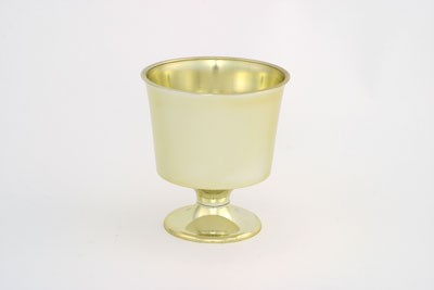 "VO-121-2 - Small Plastic Urn ( 4"" Opening Diameter )(Gold or Silver) - carton of 24"