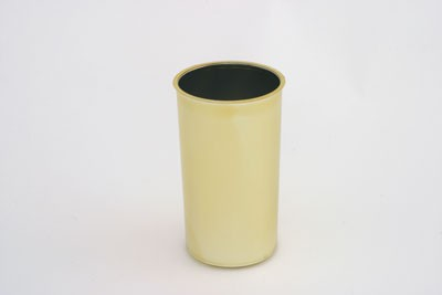 "VO-151-2 - 8"" Plastic Cylinder (Gold or Silver) - carton of 12"