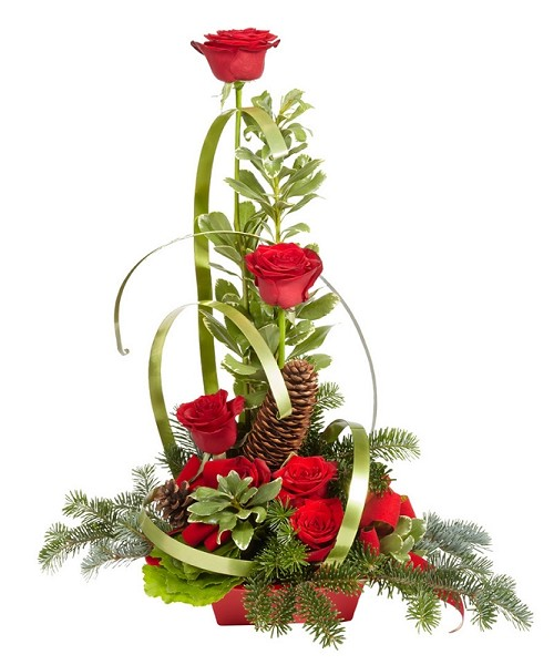 "Holiday Arrangement #12185 - Scroll down to ""Click Here"" for link to Recipe Card"