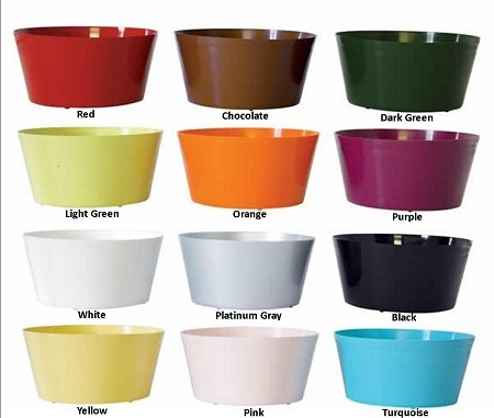 "VO-2040 - 4"" Plastic Dish Garden (12 Colors) - carton of 18"