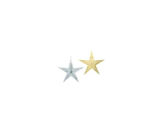 "VO-251-2 - 3"" Plastic Star (Silver or Gold) - carton of 36"