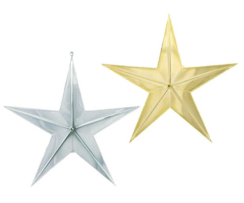 "VO-291-2 - 10"" Plastic Star (Silver or Gold) - carton of 12"