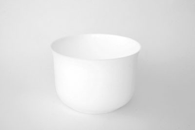 "VO-310W - 6 1/2"" White Plastic Design Planter - carton of 6"