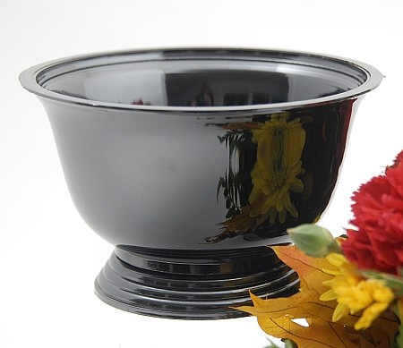 VO-340BLKPRL-P - Black Pearl Plastic Revere Bowl - by the piece