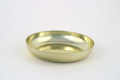 VO-611-2 - Small Plastic Round Design Dish (Gold or Silver) - carton of 24
