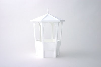 "VO-720 - 12"" Plastic White Gazebo - carton of 6"