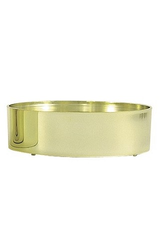 "VO-961-2 - 6"" Design Plastic Tray (Gold or Silver) - carton of 24"