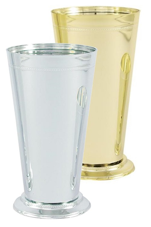 VO-931-2 - Medium Plastic Mint Julep Cup (Gold or Silver) - carton of 12