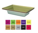ESSENTIALS Plastic Rectangle Bowl - Available in 10 colors - by the piece