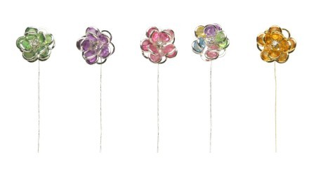 SO-2711S-15S - LOMEY® Flower Gems available in 5 colors - box of 6