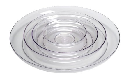 "1430 - LOMEY® 15"" Clear Designer Dish - carton of 6 - 1430"