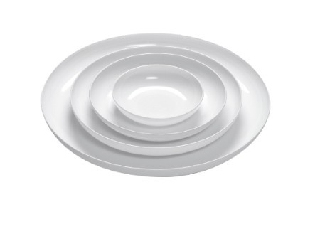 "LOMEY® 11"" White Designer Dish - carton of 6 - 1422"