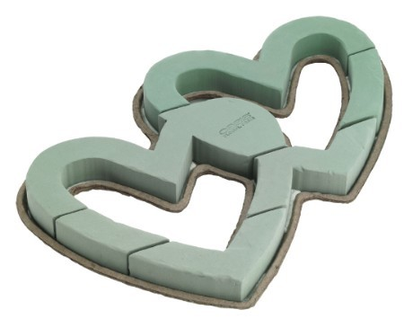 "1828 - OASIS® Mache 26"" Open Double Heart - carton of 4 - NOW with Maxlife"
