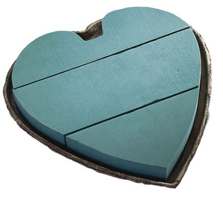 "SO-1810-P - OASIS® Mache 12"" Solid Heart - by the piece - NOW with Maxlife"