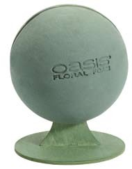 SO-11-01860-P - OASIS® Floral Foam Sphere with Stand - by the piece - NOW with Maxlife