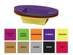 ESSENTIALS Plastic Oval Bowl - Available in 10 colors - by the piece