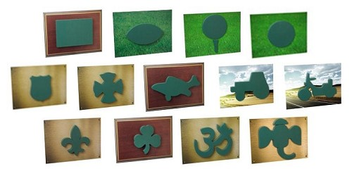 SO-11-11167-79-P - OASIS® Scenic Shapes (13 different shapes) - by the piece - Scroll down for VIDEO